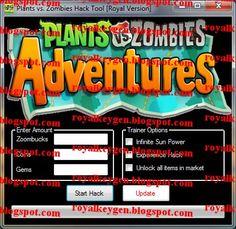 Royal Keygens: Plants vs. Zombies Adventures Hack Tool [FREE Download] [No Survey]