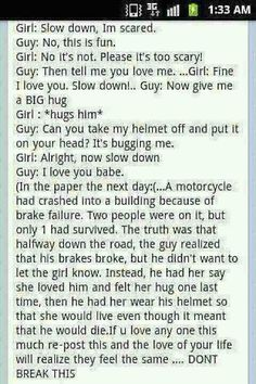 sad motorcycle accident story