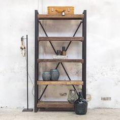 Boekenkast Open Industrieel Small