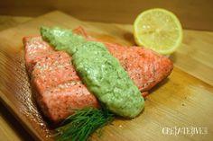 Salmon with Avocado Yogurt Sauce