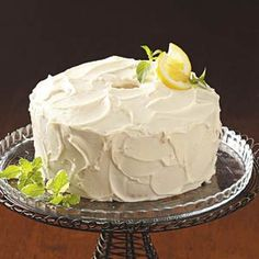 Homemade Lemon Chiffon Cake Recipe. I made it today for my daughters birthday. It was really good. I substituted melted butter for oil.