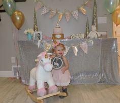 First Birthday Party. Girl Birthday Part. Unicorn Birthday. Unicorn Birthday Party. Unicorn Birthday Theme