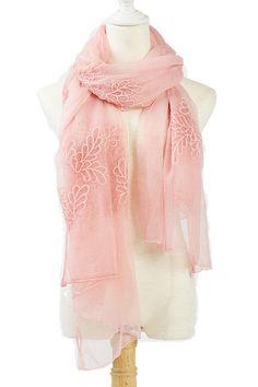 Flower Silk Scarf ==