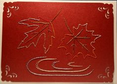 Herbst 01 - Fallende Blätter - Motiv von Darsie Bruno- Format A6 quer - von mir gefertigt am 03.12.2015