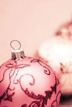 Pink Christmas ornament. Pinned on behalf of Pink Pad, the women's health mobile app with the built-in community