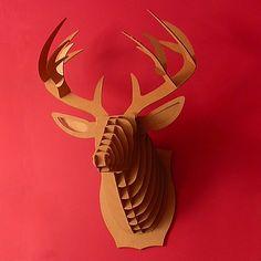 DIY, ¿Lo compro o lo hago?, Shopping vs DIY, ciervo de cartón, tiendas online de decoración, deco shopping,