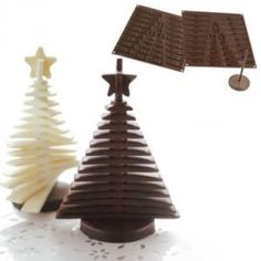 Size: 112 mlMake out of chocolate Christmas tree using popular Silikomart silicone mould. You can make a Christmas treat yourself and surprise everyone near your Christmas table. Christmas Tree Chocolates, 3d Christmas Tree, Christmas Minis, Christmas Treats, Holiday Treats, Christmas Ornament, Chocolate Tree, Chocolate Dreams, Christmas Chocolate