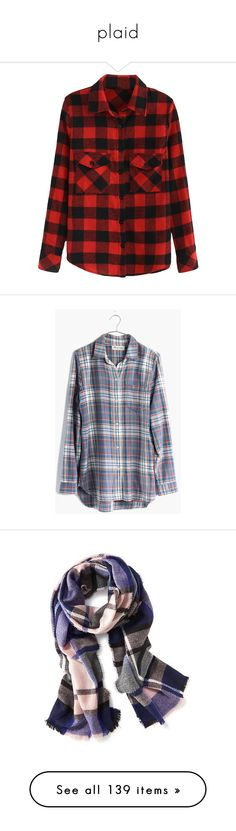 """plaid"" by sabina-127 ❤ liked on Polyvore featuring tops, shirts, flannel, blouses, plaid, collared shirt, plaid flannel shirt, long flannel shirts, long sleeve shirts and flannel shirt"