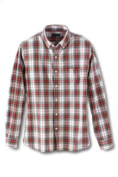 Men's Sail Rigger Pattern Oxford Shirt from Lands' End