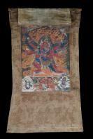 Thangka depicting Hayagriva Tibet/China, 18th - 19th Century