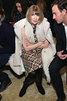 Pin for Later: Les Stars Sont au premier Rang Pour la Fashion Week de New York Anna Wintour Au défilé Tory Burch.