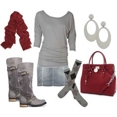 love gray and red