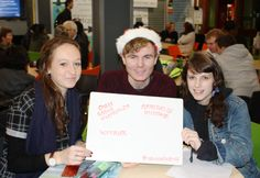 Dear Santa! Internship chats, opportunities and workshops for these 3 bright students please? #AlumniChristmas