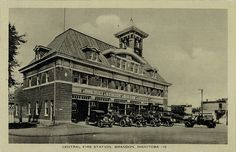 Postcard 168: Central Fire Station, Brandon, Manitoba. (1931])