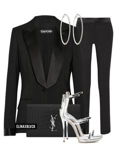 """Untitled #1442"" by elinaxblack on Polyvore featuring Tom Ford, Yves Saint Laurent, Roberta Chiarella, Giuseppe Zanotti, women's clothing, women, female, woman, misses and juniors"