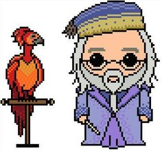 Dumbledoor and Fire Phoenix pixel art - Google Search