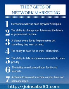 Did you know that 82% of women in the United States making $100,000 or more do it through a Home Based Business?! I have worked for others most of my life, but for the last 2 1/2 years I have SEEN FOR MYSELF the power of Network Marketing and how FULFILLING and FUN it can be!! Are you ready to join us and become an Entrepreneur?! Enroll as a Saba Associate today at http://joinsaba60.com and give me a call on my cell at (832) 272-4586. EXCITING THINGS are happening at Saba right now!!