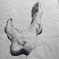 #skecht drawen by alaraltanisse #simple #feet #art