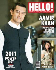 Aamir Khan in a vest on Hello! Magazine