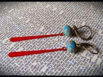 Boucles d'oreilles émaillées Creations, Hair Accessories, Etsy, Ears, Boucle D'oreille, Locs, Jewelery, Kitchens, Hair Accessory