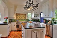 Beautifully remodeled kitchen to style in Santa Barbara Spanish home built 1929.