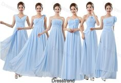 Blue bridesmaid dress - blue homecoming dress, long evening dress, chiffon bridesmaid dress, formal evening gown, girls long party dress on Wanelo Bridesmaid Dresses Long Blue, One Shoulder Bridesmaid, Blue Homecoming Dresses, Bridesmaids And Mother Of The Bride, Wedding Party Dresses, Evening Gowns, Wedding Inspiration, Wedding Ideas, Wedding Stuff