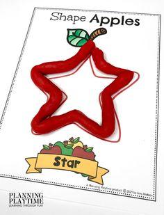 Use FINE MOTOR Skills to Form Apple SHAPES. - Apple Worksheets Preschool