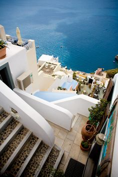 Santorini, Greece ... sometimes one forgets that that pretty hillside village means A LOT OF STAIRS!!!