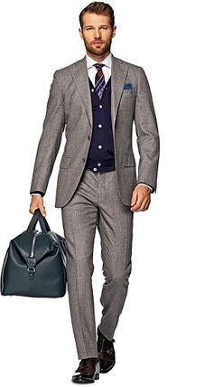 Suit Brown Stripe Lazio P3919I Formeller Anzug, Anzug Und Krawatte,  Schulmode, Männer Kleiden, Stilvolle Outfits, 4a56f07605