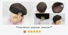 #Vintage Brown Ladies Felt #Hat  #Fishmans Hat of Fort Wayne Indiana #gotvintage #vintagehat