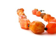 Chunky Orange Necklace