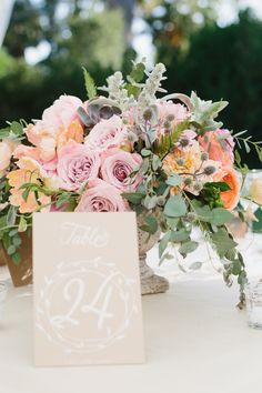 #table-numbers  Photography: Marianne + Joe Of Marianne Wilson Photography - www.mariannewilsonphotography.com  Read More: http://www.stylemepretty.com/2014/12/29/colorful-summer-wedding-at-ojai-valley-inn/