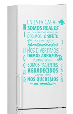 Vinilo decorativo Nevera #32# MI HOGAR Pegatina stickers