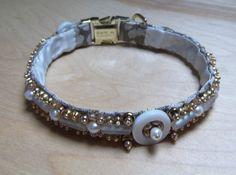 Items similar to Wedding White Luxury Dog Collar Handmade with Pearl Beading on Etsy Dog Belt, Luxury Dog Collars, Handmade Dog Collars, Wedding White, Pearl Beads, Pearl White, Iridescent, Belts, Glass Beads