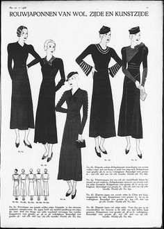 Mourning dresses. Gracieuse 1933.