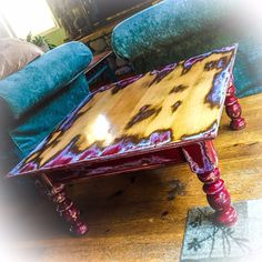 SOLD Farmhouse Red Coffee Table w/ hidden drawer shabby Funky Painted Furniture, Distressed Furniture, Refurbished Furniture, Paint Furniture, Repurposed Furniture, Furniture Projects, Furniture Makeover, Weathered Furniture, Painted Dressers