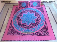 Best Designs of Hand Embroidery Bed sheets from Pakistan also called
