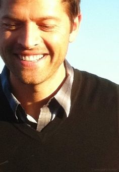 Watching Misha smile is like watching the sun rise.