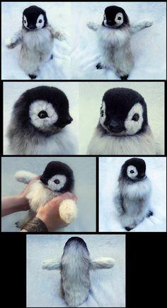 SOLD Hand Made Poseable Baby Penguin! by Wood-Splitter-Lee on deviantART