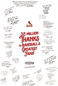 Millions of Thank You's from the St. Louis Cardinals!