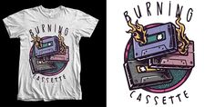 """Burn"" t-shirt design by lzhr90"