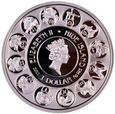 Niue 2010 1$ A Mucha Zodiac Leo 28 28g Horoscope Silver Coin Low Mintage   eBay