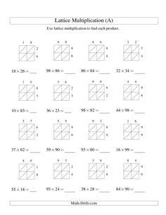 6 Long Addition Worksheets The 2 Digit by 2 Digit Lattice Multiplication A math √ Long Addition Worksheets . the 2 Digit by 2 Digit Lattice Multiplication A Math in Addition Worksheets Lattice Multiplication, Two Digit Multiplication, Multiplication Worksheets, Free Math Worksheets, Addition Worksheets, Number Worksheets, Math Resources, Math Charts, Math Strategies