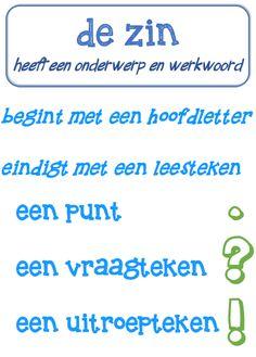Poster taal: de zin en leestekens © Sarah Verhoeven