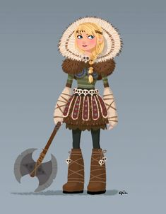 How to Train Your Dragon 2 - Astrid Concept Art 1