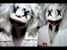 Scary Clown Halloween Makeup Tutorial