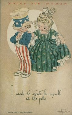 Vintage historical design - suffrage era pin gInribGs