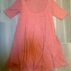 Urban outfitters babydoll sweater dress Pink urban outfitters babydoll sweater dress size xs. Never worn, small rip in shoulder (price will be knocked down) Urban Outfitters Dresses Mini