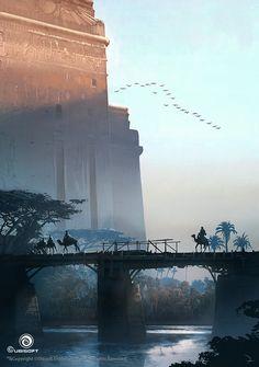 The amazing concept art of Martin Deschambault for Assassin's Creed Origins The Art of Assassin's Creed Origins Fantasy City, Fantasy Places, Fantasy World, Landscape Concept, Fantasy Landscape, Environment Concept Art, Environment Design, Egypt Concept Art, Bg Design