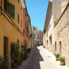 Alcudia Old Town. Mallorca. Beautiful colour!
